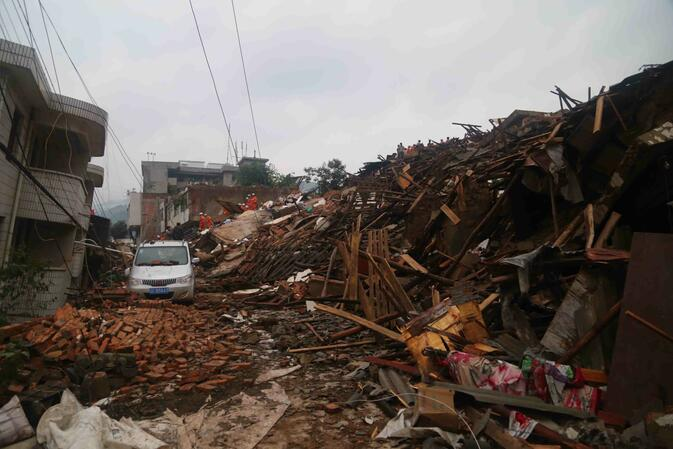 The damage in Ludian County is widespread and an estimated 42,000 homes have been toppled