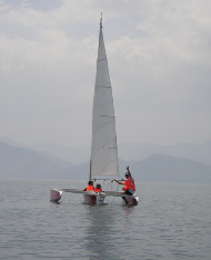 Sailing on Fuxian Lake