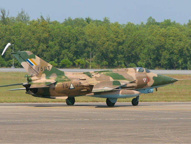 A Nanchang A-5C Fantan jet fighter commonly used by the Burmese military