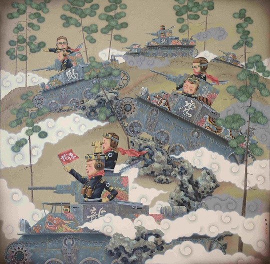 Du Xi, Armored Division on the March