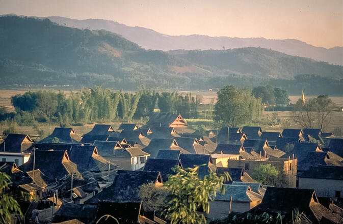 Dai village near Menghai, 1998