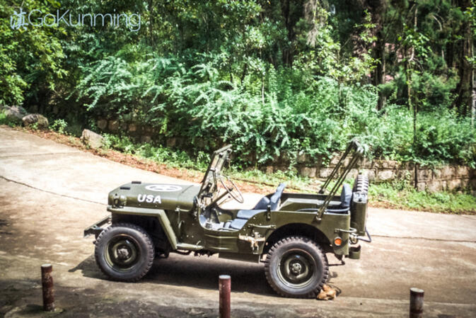 A restored and fully functional World War II American Jeep