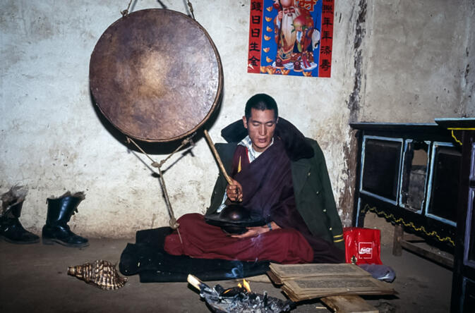 Mosuo family monk