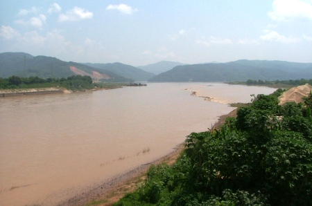 The Mekong River, known in Jinghong as the Lancang River
