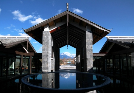 The new Pullman Lijiang Resort & Spa, with Jade Dragon Snow Mountain in the background