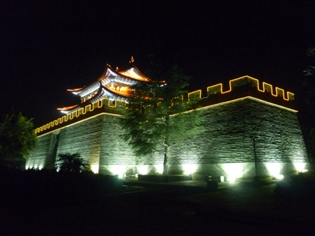 The east gate at night