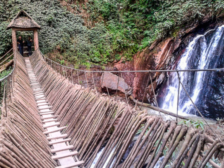 The bridge and waterfall at Likan