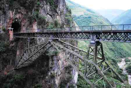 A bridge on the old narrow gauge line to Vietnam (image: James Affleck)