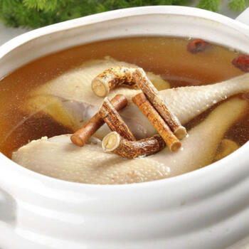 Local specialty, ginseng stewed chicken