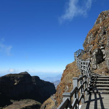 Cliff-hugging walkway more than 3,500 meters up (image credit: Chiara Ferraris)