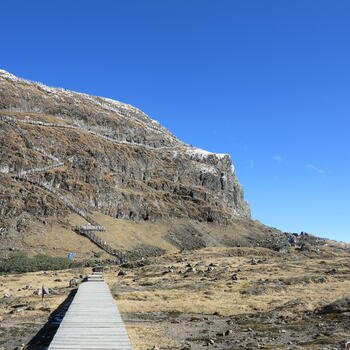 Nearing the top of Jiaozi Snow Mountain, well, not quite (image credit: Chiara Ferraris)