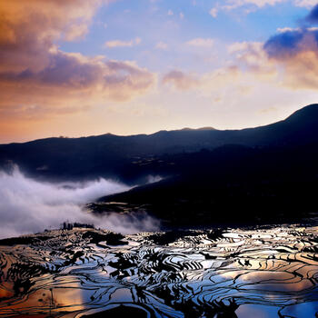 The Hani Rice Terraces in winter