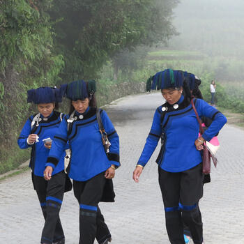 Hani women out for a walk near the village of Bada, Yunnan (image credit: Chiara Ferraris)