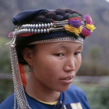 Hani woman in traditional handmade attire in Yuanyang County (image credit: Jim Goodman)