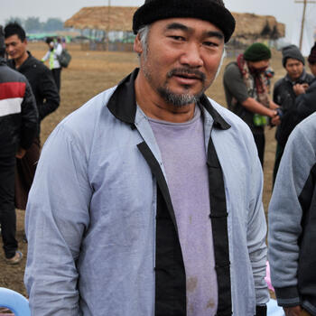This Lisu man from India walked for eight straight days to attend Kuoshi Festival in Putao, Myanmar