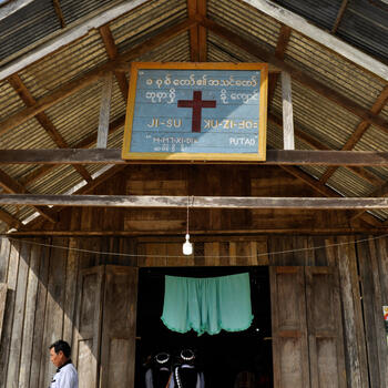 A Lisu church in Putao, Myanmar