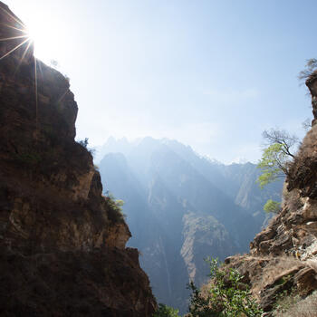 One of the stunning vistas in China's Tiger Leaping Gorge (image credit: Yereth Jansen)