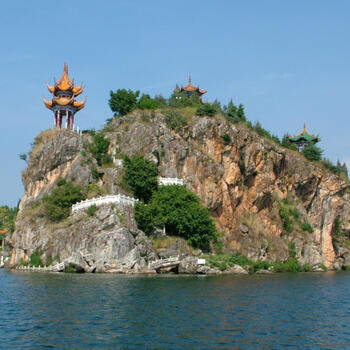 Gushan Island's rocky shore