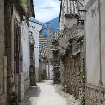 A narrow old alleyway in Dali Old Town