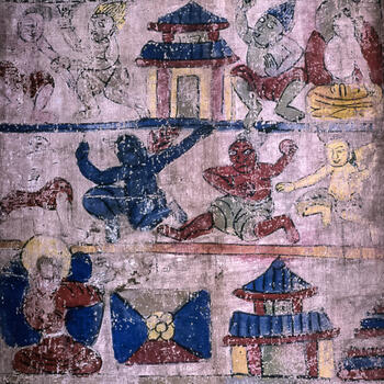 Dongba funeral mural