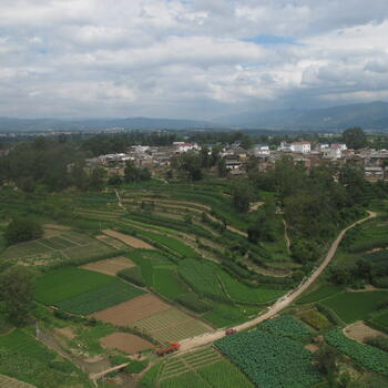 A view over the countryside near Mengzi (image credit: Benjamin Campbell)