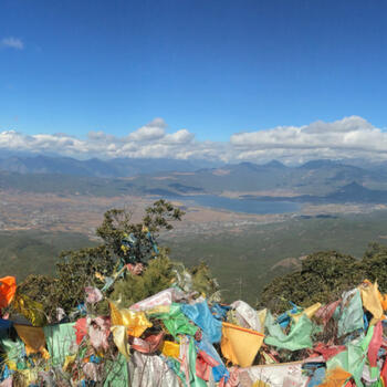 View over Lijiang from Wenbi Mountain