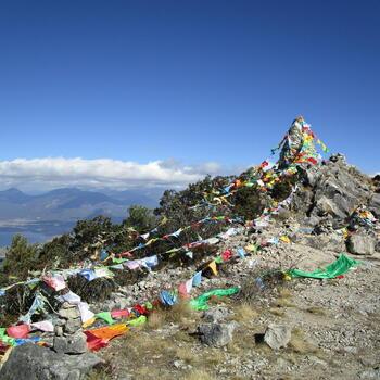 Summit of Wenbi Mountain in Lijiang