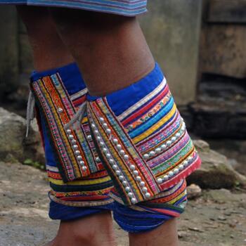 Detail of Lahu leg wraps