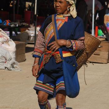 Lahu woman at a market in Lincang Prefecture, Yunnan