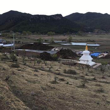 Site of new guest house being built at Wenhai Lake